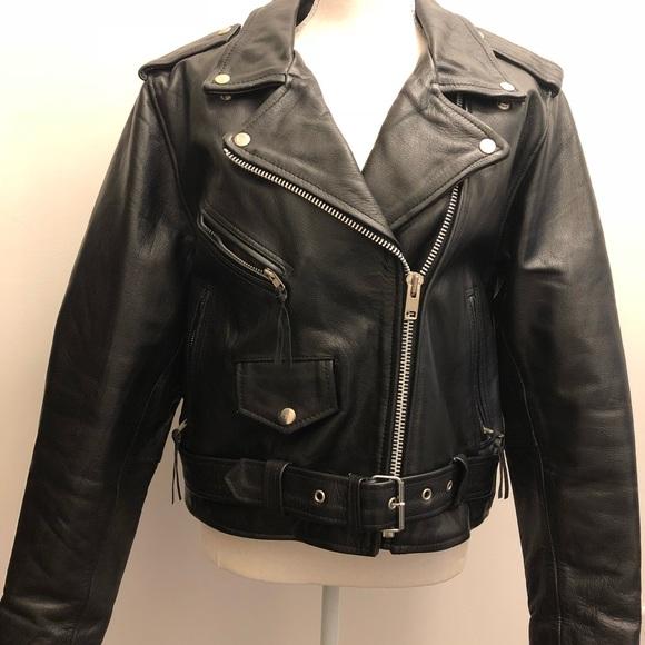 cfbd001ea88 Women's Black Leather Biker Jacket
